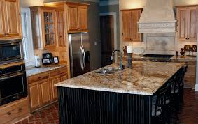 Yellow And Brown Kitchen Yellow River Granite