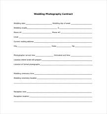 Wedding Photography Contract Form Wedding Photography Contract Template 14 Download Free Documents