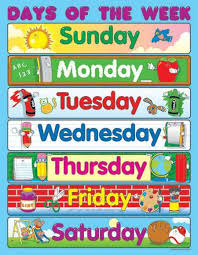 Days Of The Week Chart For Toddlers Carson Dellosa Days Of The Week Chart Days Of Week