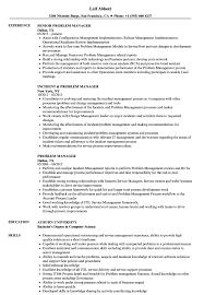 Incident Management Resume Example Problem Manager Resume Samples Velvet Jobs 8