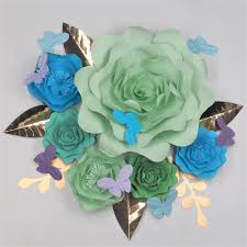 diy giant paper flowers backdrops 2018 half made large flower set baby nursery backdrop deco vedio tutorials leaves erflies with 59 78 piece on