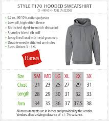 Hanes Sweatshirt Size Chart View Sizing Charts Jcmannyco