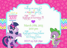 My Little Pony Birthday Invitation Wording Party My Little Pony