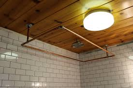 Ceiling Mounted Shower Curtain Rods diy copper shower curtain rod ridgeside 1444 by xevi.us