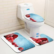 washable fast drying non slip bathroom rug set flannel polyester super water absorbing toilet seat cover normal large