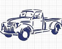 Old truck drawing | Etsy