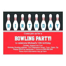 Bowling Party Invites Templates Template Free Printable
