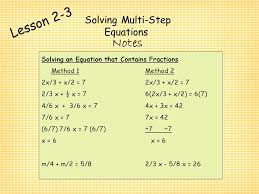 interesting algebra 1 lesson 3 2 solving multi step equations with chapter 2 algebra i