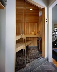 Sauna, Rye NY contemporary-bathroom