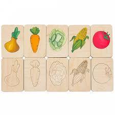<b>Карточки</b>-<b>раскраски Wood</b> Games, овощи (Артикул: 11495.01 ...