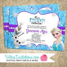 elsa birthday invitations disney frozen birthday invitations party custom personalized