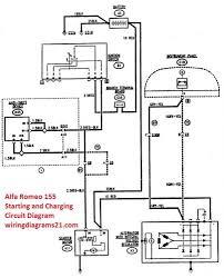 alfa romeo 155 wiring diagram alfa discover your wiring diagram romeo 155 starting and charging circuit diagram