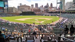 seat view for comerica park tiger den 130