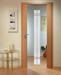 solid wood hinged door with glass