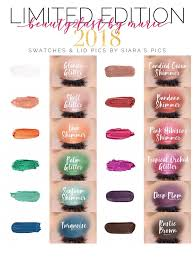 Shadowsense Color Chart 2018 Limited Edition Shadowsense Colors