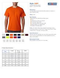 Jerzees Heavyweight Blend Size Chart Jerzees 29mp Heavyweight Blend Short Sleeve Pocket T Shirt