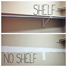 first of all i needed to rip out a long shelf along with the hanging bar this took me a rubber mallet and about 15 minutes to accomplish boom
