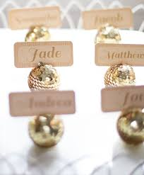 Mini Disco Ball Decorations 100 Ideas for a New Year's Eve Wedding Place holder Favors and 40