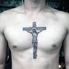 cross chest tattoo designs. Unique Cross Cross In Middle Of Chest Guys Jesus Tattoo Ideas Inside Designs N