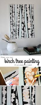 DIY Birch Tree Painting - this wall art is so, so easy to make and