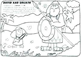 David And Goliath Coloring Page With Verse