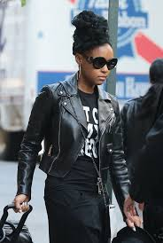 janelle monae was seen out in nyc with no make up on heading to the airport