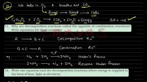 chemical reaction and equations class 10 ncert solutions q 7 20
