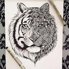Tiger Doodle Tygr Tetování Kresby A Nápady Na Tetování