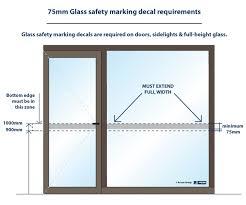 glass safety marking decals making