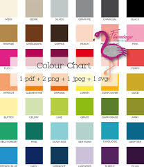 Colour Chart Printable Colour Chart Sellers Tools Graphic Designer Must Have Instant Download
