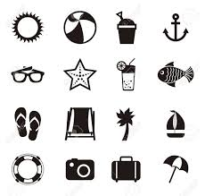 Summer Icons Summer Icons Over White Background Vector Illustration