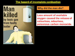 the hazard of incomplete combustion