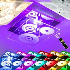 Farbwechsel Leuchte Decken Led Wohn Design Fernbedienung Rgb