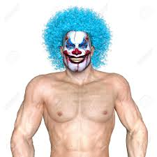 clown makeup man stock photo 65154977