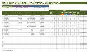 Employee Attendance Tracker Excel Template Free Templates
