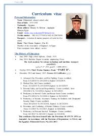 Marine Engineer Sample Resume 4 Curriculum Vitae Science Examples