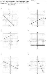 writing equations in slope intercept form worksheet business on worksheets grade writing linear in