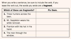 Sentence Fragments Sentence Fragments Lessons Tes Teach