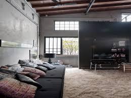 Industrial Living Room Design Living Room Industrial Living Room Design With Unpainted Wall And