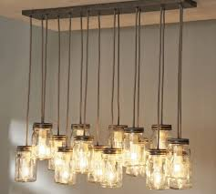 lighting mason jar light fixture pottery barn canada fixtures diy bathroom chandelier for lights tutorial