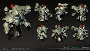 artstation dota 2 clockwork knight clockwerk set adrian solomon