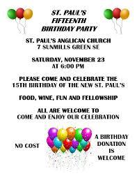Birthday Party Pastors Postings