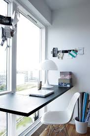 desk in front of window. Simple Front Floating Desk In Front Of Window Very Nice Throughout Desk In Front Of Window O