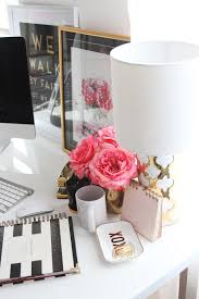 girly office supplies. Exellent Girly Meagan Wardu0027s GirlyChic Home Office Office Tour Intended Girly Supplies E