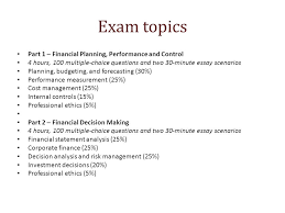 essays exam topics part financial planning performance and  2 exam topics part 1 financial