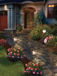 dramatic doors backyard landscape lighting