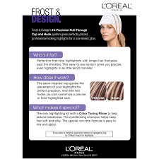 L Oreal Paris Frost And Design Highlights Champagne Loreal Paris Frost And Design Pull Through Cap Highlights For Long Hair H85 Frost Design Champagne