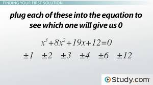 How To Factor A Cubic Solving Cubic Equations With Integers Video Lesson Transcript