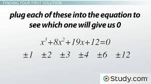 solving cubic equations with integers lesson transcript study com