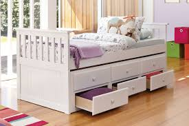 Single Bedroom Bailey Captains Single Bed Frame With Trundle By John Young
